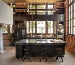 industrial style kitchen